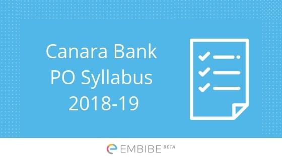 Canara Bank PO Syllabus