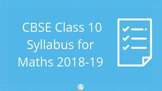 CBSE class 10 Syllabus For Maths