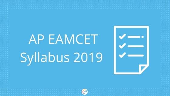 AP EAMCET Syllabus 2019