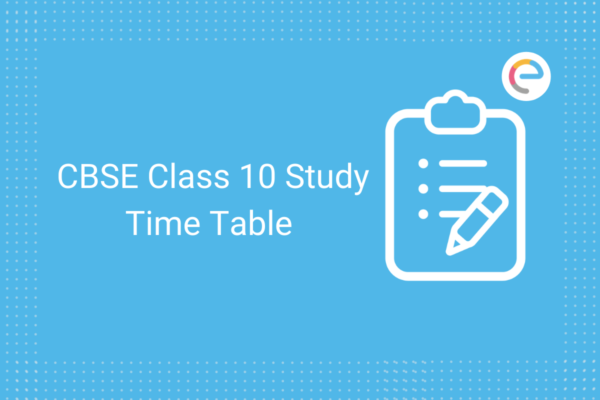 study time table for class 10 cbse