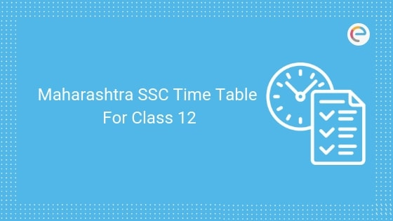 Maharashtra SSC Time Table for Class 10