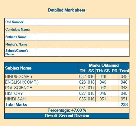 Steps to check RBSE Class 12 Result(2)