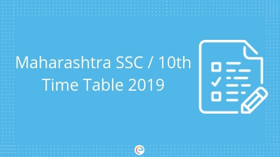 Maharashtra SSC Time Table For Class 10 | Check Maharashtra