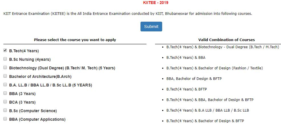 Kiitee Application Form 2020 Released Check Date Eligibility Registration