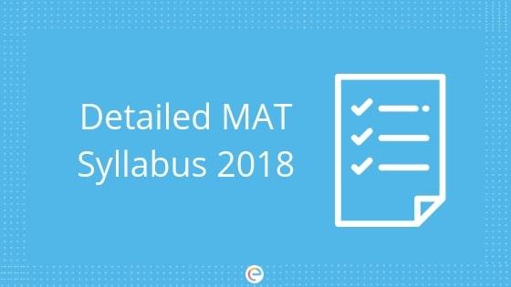 MAT Syllabus 2018