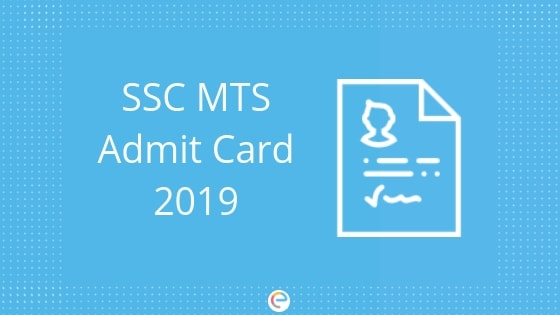SSC MTS Admit Card 2019