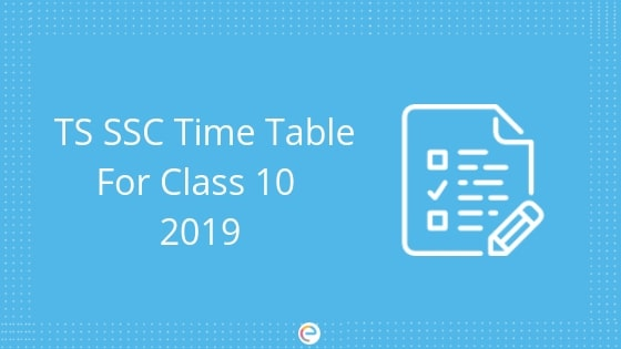 TS SSC Time Table For Class 10