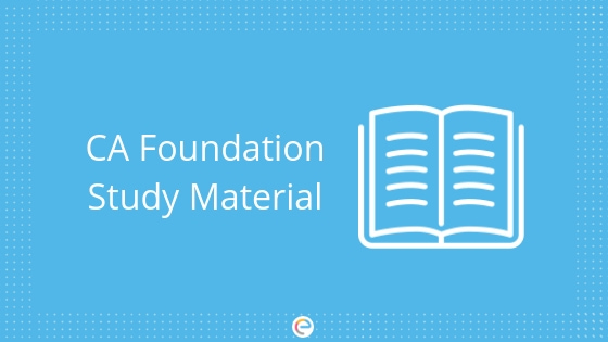 CA Foundation Study Material, Books, Question Paper: Download Free