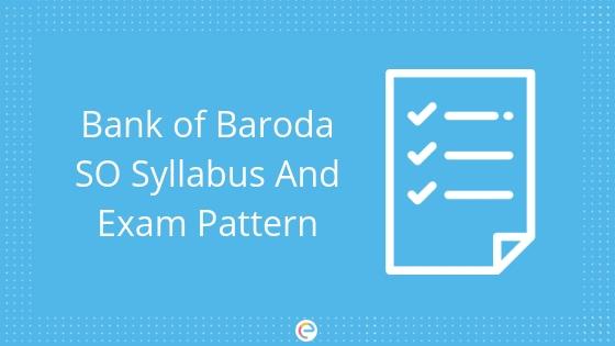 bank of baroda so syllabus