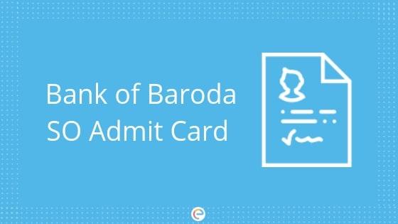 bank of baroda so admit card