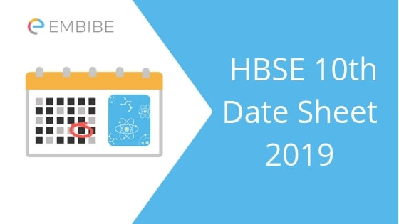 HBSE 10th Date Sheet 2019 | Check Haryana Board Date Sheet/Time Table Here