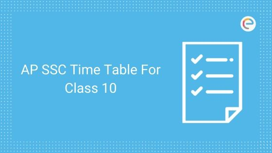 AP SSC Time Table for Class 10