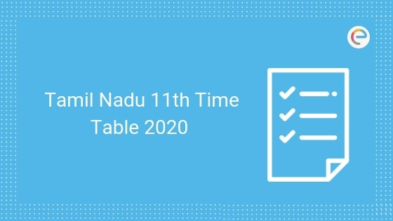 Tamil Nadu 11th time table
