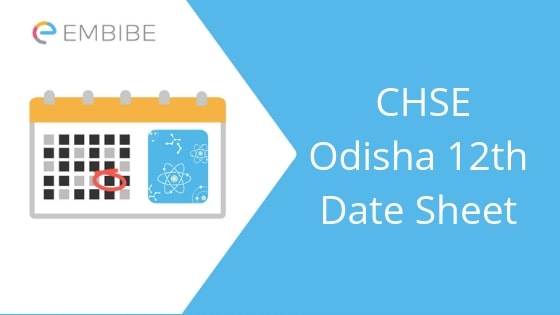 CHSE Odisha 12th Time Table