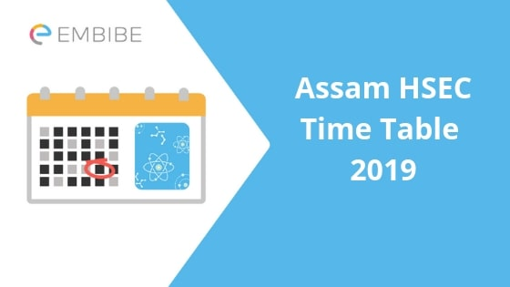 Assam HSEC Time Table