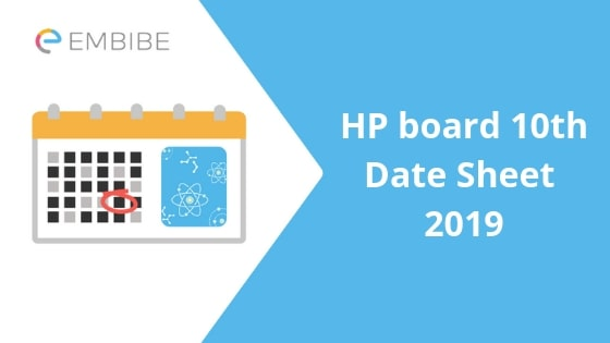 HPBOSE 10th Date Sheet 2019 | Check Himachal Pradesh Class 10th Time Table Here