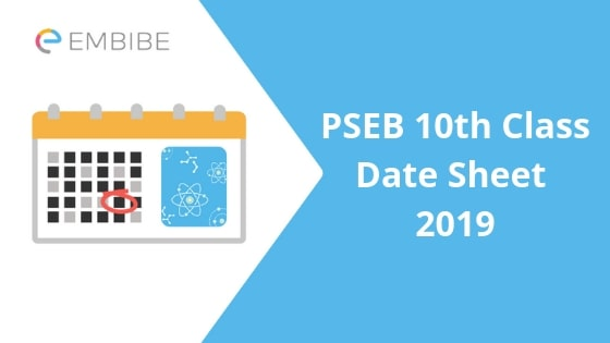 PSEB 10th Class Date Sheet 2019: Check PSEB Class 10 Time Table