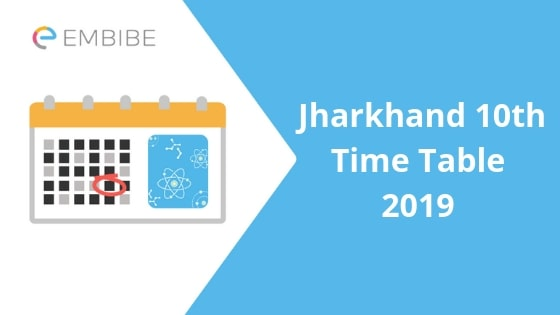Jharkhand 10th Time Table