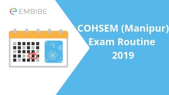 COHSEM Class 12 Exam Routine