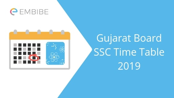 Gujarat Board SSC Time Table