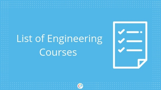 List of engineering courses