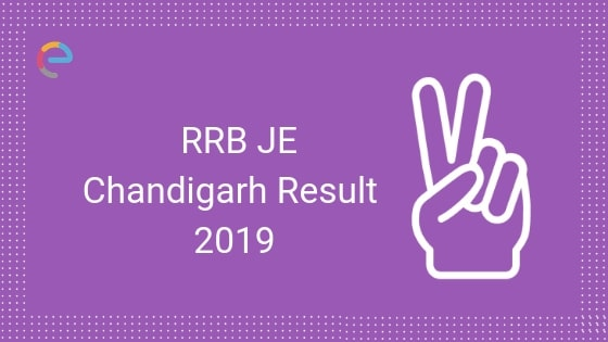 RRB JE Chandigarh Result