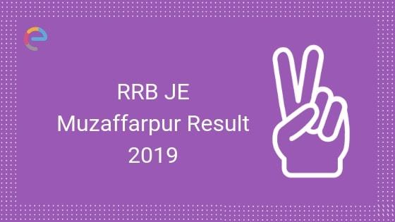 RRB Muzaffarpur JE Result