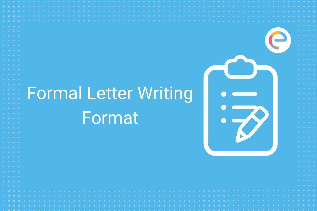 formal letter format for school