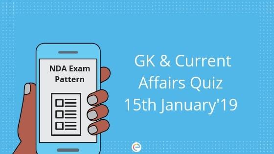 Current Affairs quiz 15th jan