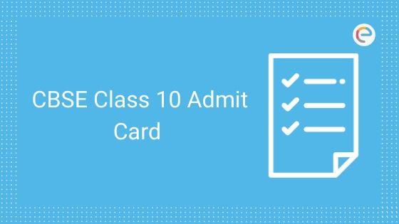 cbse class 10 admit card