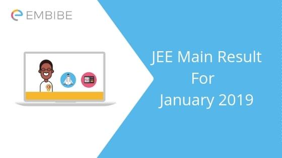 JEE Main Result 2019