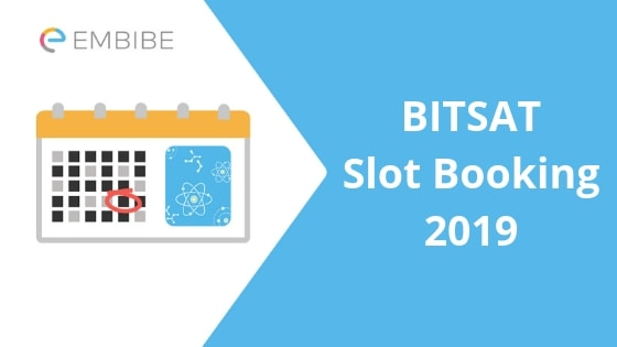 bitsat slot booking