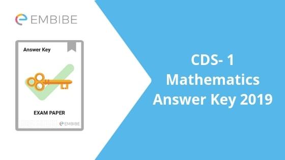 CDS Maths Answer Key
