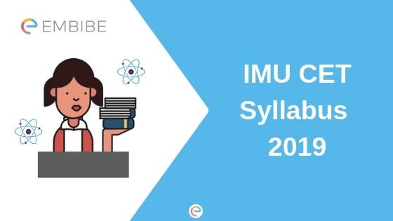 IMU CET Syllabus