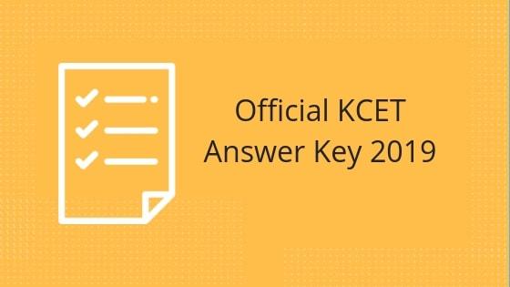 KCET Answer Key 2019