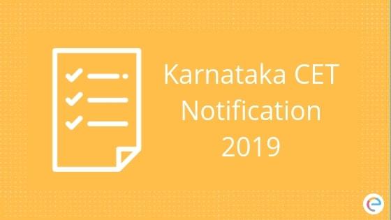 KCET 2019 Notification
