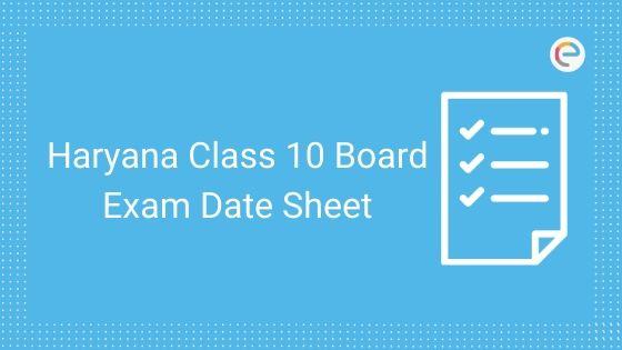 hbse 10th date sheet