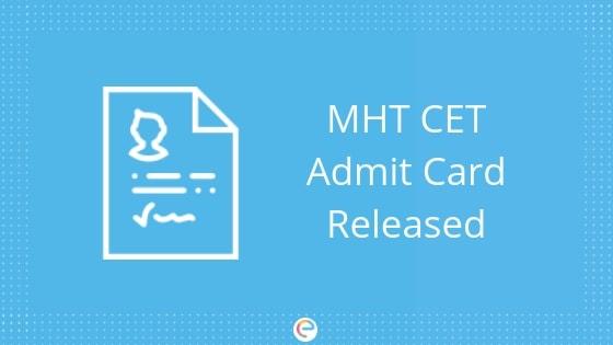 MHT CET Admit card 2019 embibe