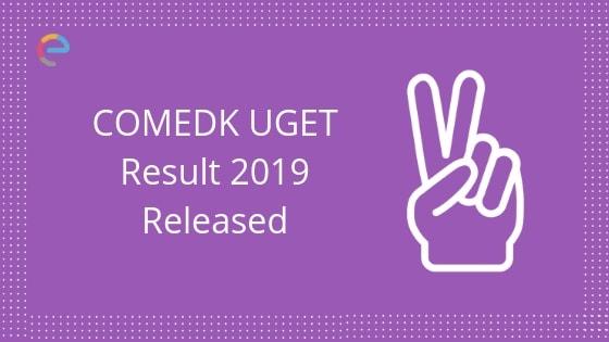 comedk result 2019 released