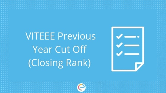 VITEEE Previous Year Cutoff
