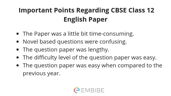 cbse class 12 english paper analysis
