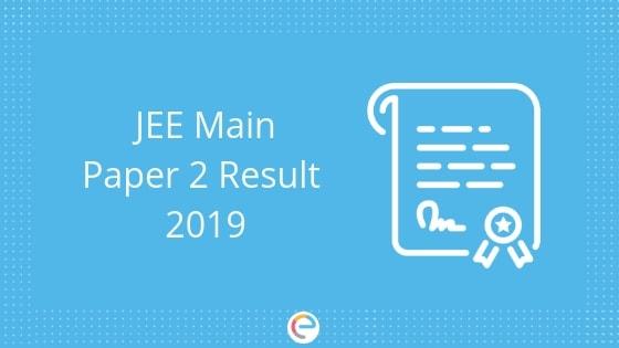 jee main paper 2 result