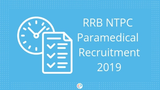 RRB NTPC Paramedical Recruitment-Embibe