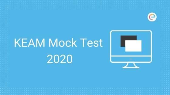 KEAM Mock Test 2020