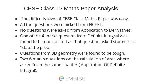 CBSE Class 12 Maths Paper