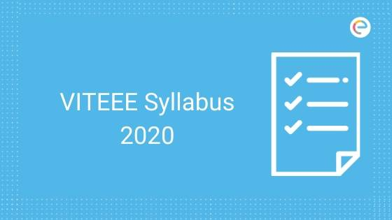 VITEEE Syllabus 2020