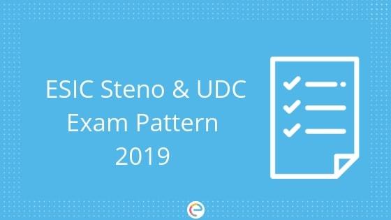 ESIC Exam Pattern