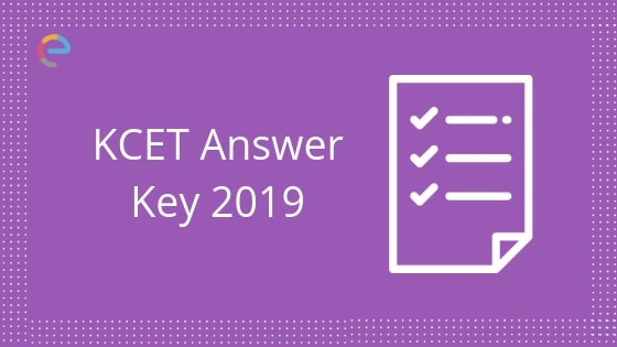 KCET Answer Key 2019 embibe