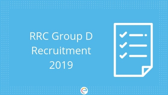RRC Group D Recruitment 2019 | Level 1 Recruitment Notification For