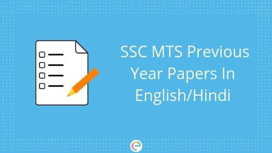 SSC MTS Previous Year Papers (English & Hindi) PDF Download